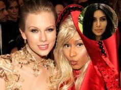 Kim K Accidentally Gets Involved In Taylor Swift & Nicki Minaj's Feud