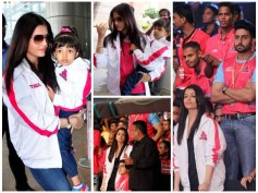 Aishwarya Rai With Aaradhya Bachchan Spotted At Jaipur Airport