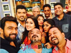 Aatagara's Selfie Moment On The Sets Of Maja Talkies!