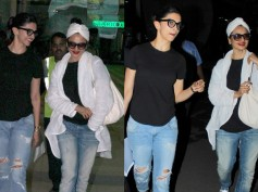 Pictures: Rekha Looks Hotter Than Deepika Padukone At The Mumbai Airport