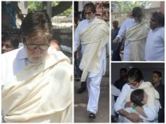 Amitabh Bachchan, Anil Kapoor & Celebs At Aadesh Shrivastava's Funeral