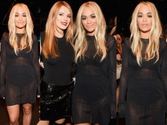 Rita Ora Flashes Her Inners At NYFW During Vera Wang's Show