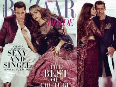 FIERY! Salman Khan-Sonam Kapoor Sizzle On The Cover Of Harper Bazaar!