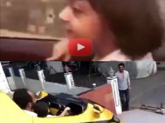 IN PICS! Shahrukh's AbRam Dancing In The Car, His Short Drive With Rohit Shetty!
