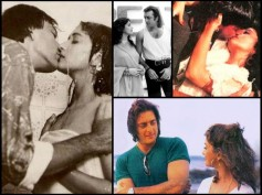 Super Hot Kissing Pics Of Ex-Lovers Madhuri Dixit And Sanjay Dutt
