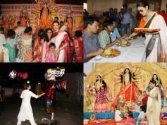 PICS! Kajol, Vidya Balan & Sushmita Sen Celebrated Durga Puja In The Most Beautiful Way!