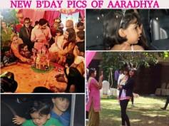 NEW PICS! Aaradhya Bachchan Cutting Birthday Cake With Mommy Aishwarya & Daddy Abhishek!