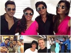 Goofy Yet Cute! Shahrukh-Kajol-Varun-Kriti In Dilwale's Third Song 'Tukur Tukur' [PICS]