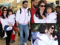 SO CUTE: Aishwarya Rai Bachchan, Abhishek Bachchan & Aaradhya Spotted Wearing The Same Jackets