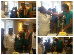 PICS: Darshan Celebrates Birthday With Producer Sandesh Nagaraj!