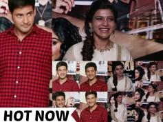 CUTE PICS! Brahmotsavam Pair Mahesh Babu And Samantha Launch Kshanam Trailer