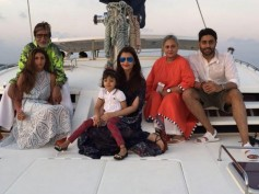 BEST FAMILY PICTURE: Aishwarya, Aaradhya & The Bachchans Enjoy The Boat Ride In Maldives