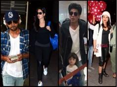 Stylish Pictures! AbRam, Shahrukh, Priyanka, Katrina, Ranbir & Others Spotted At The Mumbai Airport!