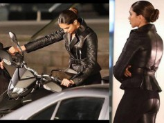 New Set Of Pictures! Deepika Padukone Flaunts Her Sculpted Body In A Tight Black Outfit!