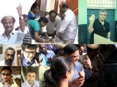 PICS: Rajinikanth, Kamal, Ajith, Vijay Cast Their Votes, Suriya Apologises For Giving It A Miss