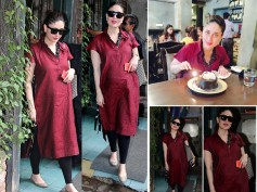 Ooh-la-la! Pregnant Kareena Kapoor Can Give Any Model A Run For Her Money In Her Red Kurta (Pics)