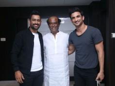 Sushant Singh Rajput & M.S Dhoni Meet Superstar Rajinikanth!
