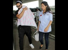Damn Cute Pictures! Shahid Kapoor Snapped With Baby Misha & Wife Mira Rajput At The Airport