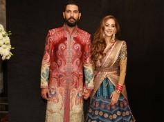 Pictures Of Yuvraj Singh & Hazel Keech's Wedding Reception In New Delhi!