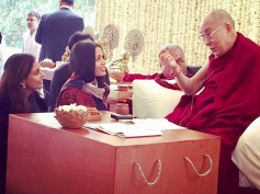 See Pics! Freida Pinto Meets His Holiness Dalai Lama In Delhi!