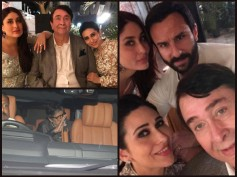 Pictures: Kareena Kapoor, Ranbir, Karisma, Saif, Big B & Rekha At Randhir Kapoor's Birthday Bash!