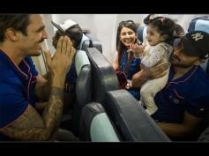 So Cute! Virat Kohli & Mitchell Johnson Play With Geeta Basra & Harbhajan Singh's Daughter Hinaya