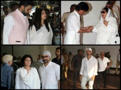 Aishwarya Rai, Abhishek, SRK, Aamir, Hrithik & Others Spotted At Vinod Khanna's Prayer Meet [Pics]
