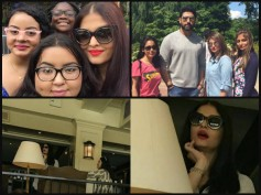 NEW PICTURES! Aishwarya Rai Bachchan Spotted TWINNING With Abhishek Bachchan In New York!