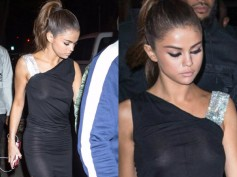 Selena Gomez Suffers Wardrobe Malfunction! Accidentally Flashes Nipple In A Sheer Dress