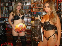 Heavy Metal & Lingerie! Lady Evil's Metal Merch Collection Is Out Of This World!