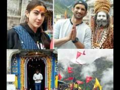 Seeking God's Blessings! Sushant Singh Rajput & Sara Ali Khan Visit The Holy Kedarnath Temple [PICS]