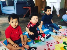 SO CUTE! Taimur Plays With Tusshar Kapoor's Son Laksshya! View Pictures