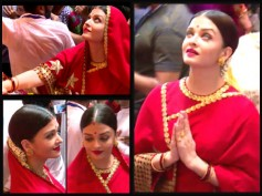 SHE LOOKS LIKE A GODDESS! Aishwarya Rai Bachchan Visits Lalbaugcha Raja In A Red Saree [NEW PHOTOS]