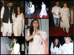 Rani Mukerji's Father's Prayer Meet Pics! Abhishek, Aishwarya Rai Bachchan, Kareena & Aamir Spotted!