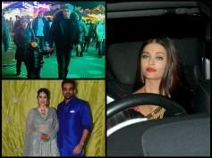 SPOTTED! Aishwarya Rai Bachchan At A Wedding, SRK-AbRam In London & Zaheer-Sagarika At Their Sangeet