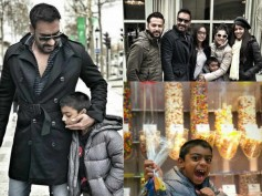 Ajay Devgn Gives A Sneak-Peek Of His Parisian Birthday Celebrations With Kajol & His Kids!