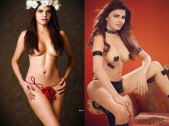 Sherlyn Chopra In A Transparent Lingerie Shows ALL Her Private Parts! Pics