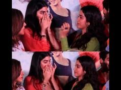 Emotional Pics! Khushi & Janhvi Kapoor Break Down While Hugging Each Other At Dhadak Trailer Launch