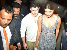Priyanka Chopra & Nick Jonas Walk Hand-in-hand As They Step Out For A Dinner Date In Mumbai! Pics