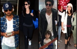 AbRam, SRK, PeeCee & Others Spotted At The Mumbai Airport!