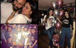 Inside Pics From Kareena's  Midnight Birthday Celebration!