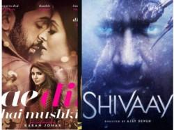 Shivaay Vs Ae Dil Hai Mushkil 4 Days Monday Box Office Collection