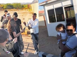 Shahrukh Khan Spotted With Abram Pretty Ladies After Raees Wrap Pics