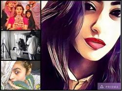 Bollywood Celebs Prisma App Pictures Shahrukh Khan Alia Bhatt Navya