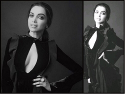 Deepika Padukone New Photohsoot In Black Dress Latest Pictures