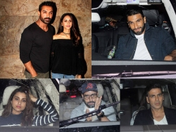 John Abraham Wife Priya Runchal Ranveer Akshay Dishoom Screening