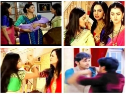 Swaragini Spoiler Durga Prasad Suffers Heart Attack Swara Ragini Fight