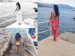 Pictures Of Sarah Jane Dias Holidaying In Croatia