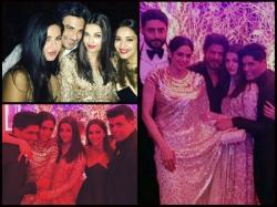 New Inside Pics Aishwarya Rai Bachchan With Srk Madhuri Katrina At Manish Malhotra Bash