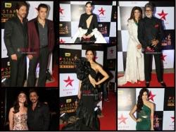 Star Screen Awards Pictures Deepika Padukone Salman Srk Bachchans On Red Carpet